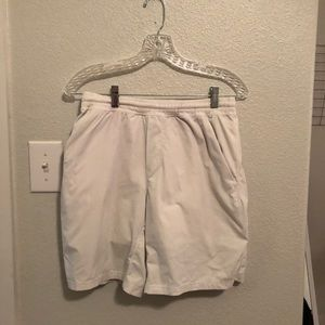 Men's White Lululemon shorts